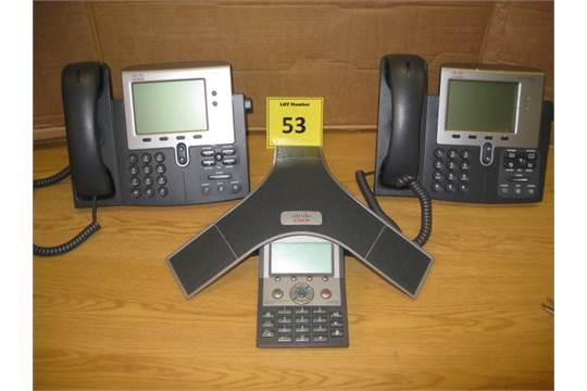 CISCO CISCO CONFERENCE PHONE MODEL CP-7937G PLUS 2 X CISCO