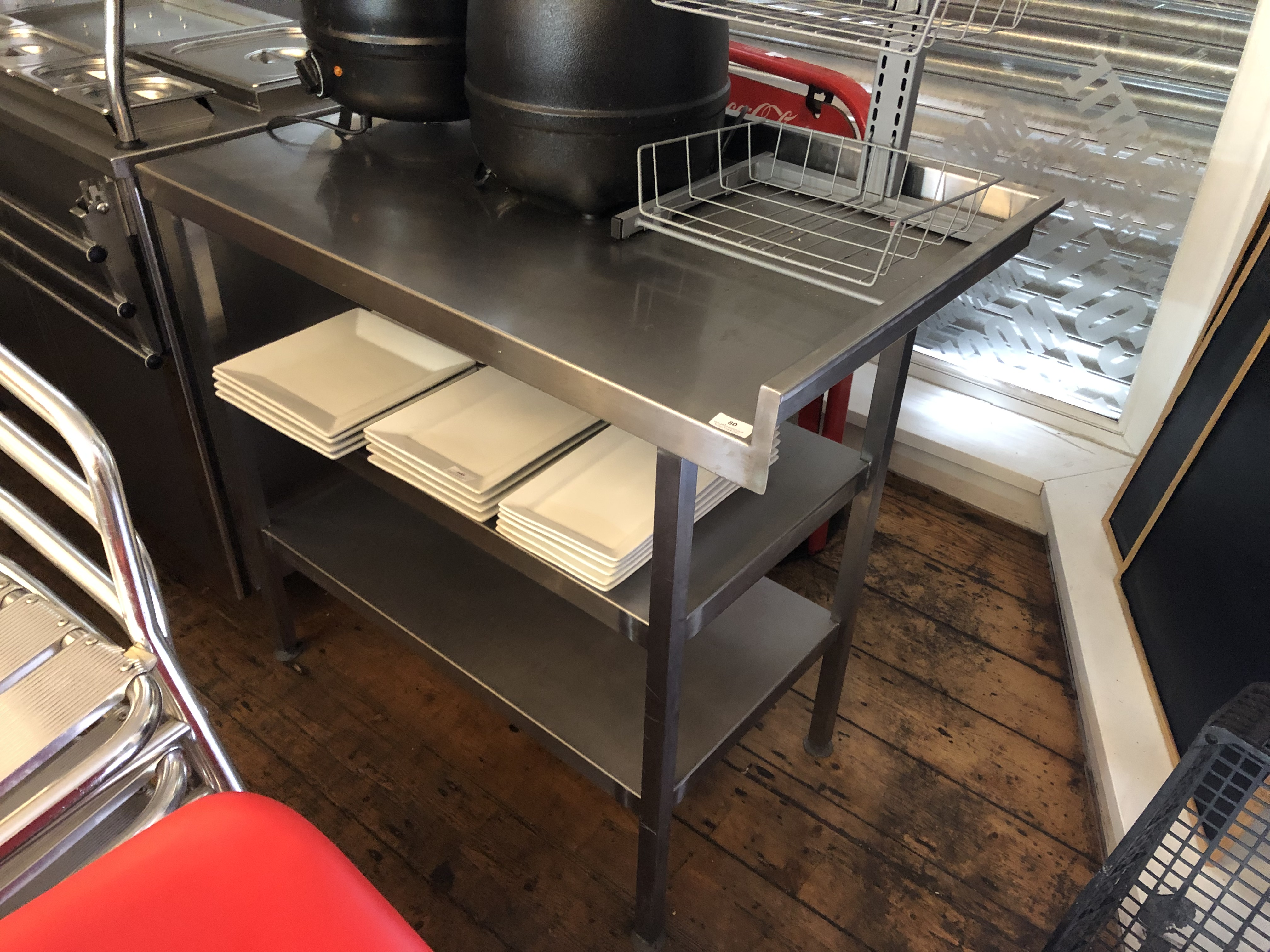 Lot 80 - Stainless Steel Preparation Table with Undershelf