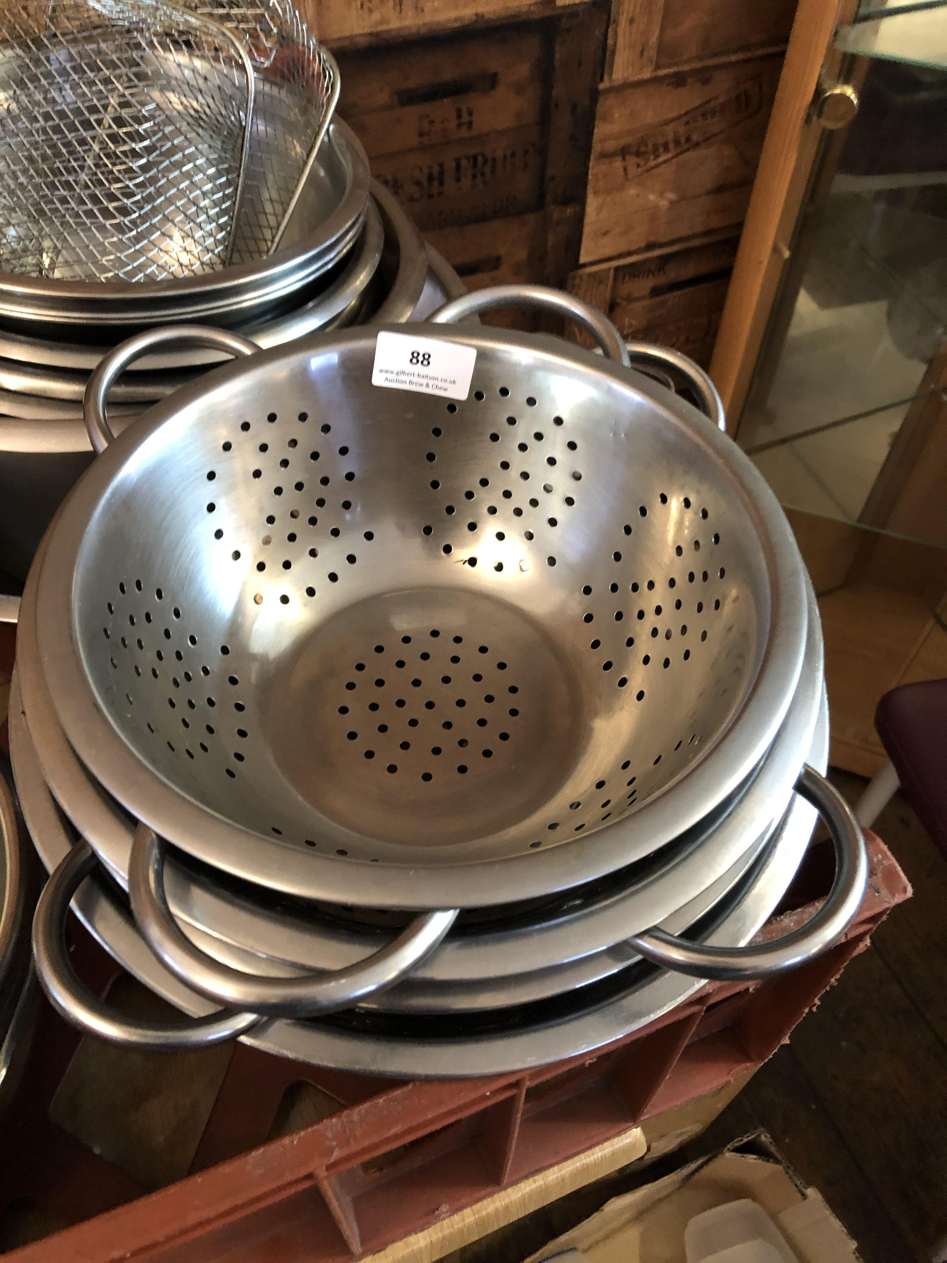 Lot 88 - Four Stainless Steel Colanders