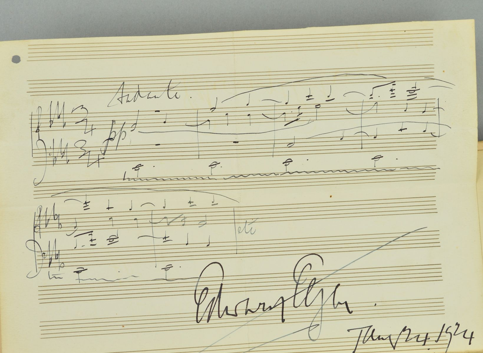 AN AUTOGRAPH COLLECTED IN AROUND 1923 BY MR HERBERT TABB AND MRS LYDIA TABB WORKING ON BEHALF OF - Image 2 of 7