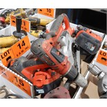 LOT/ BLACK AND DECKER POWER TOOL KIT WITH (3) CORDLESS DRILLS, 1 CIRCULAR SAW, CHARGERS AND