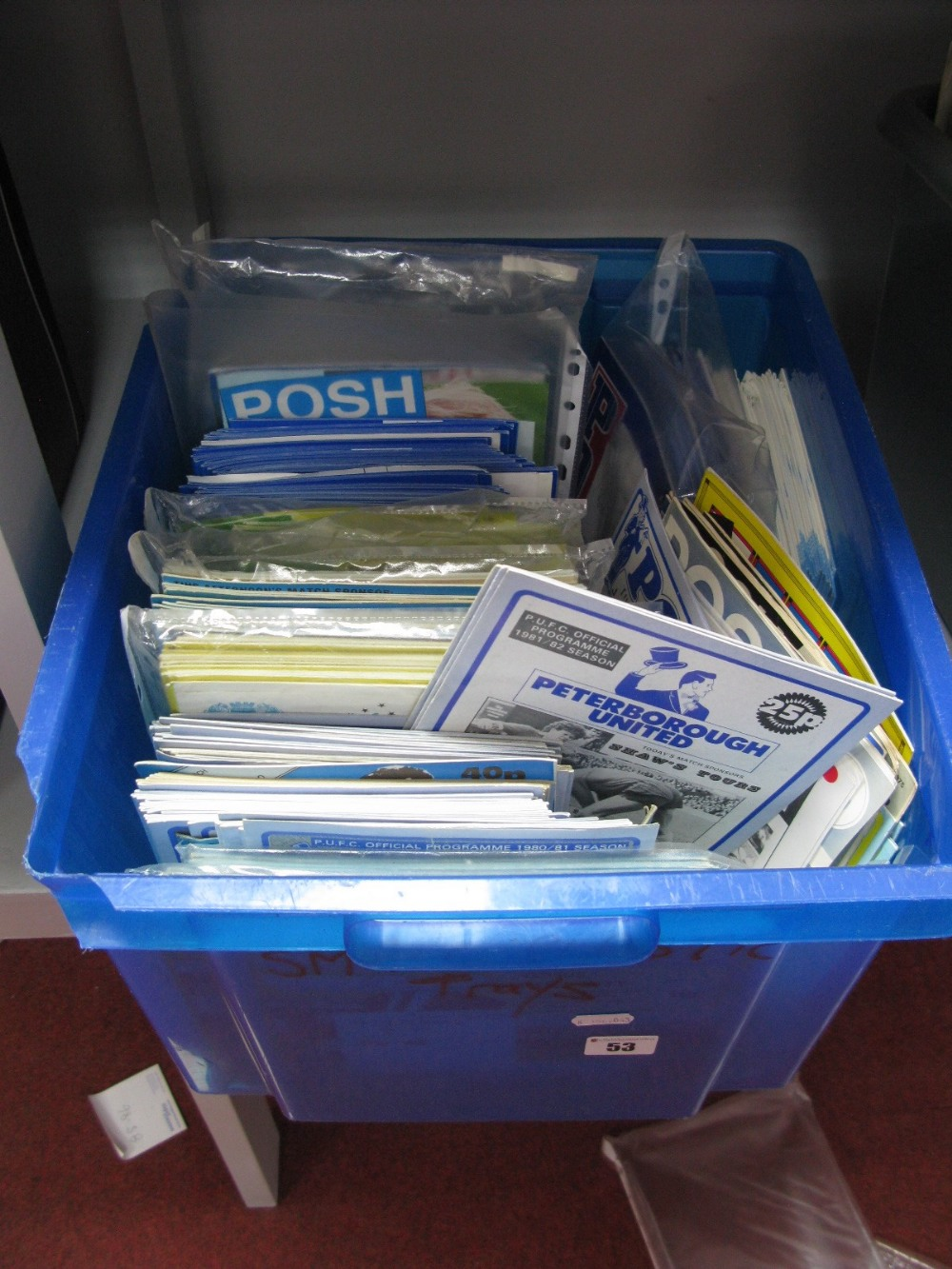 Lot 53 - Peterborough United Programmes, mainly 1980's and 90's sets noticed:- One Box