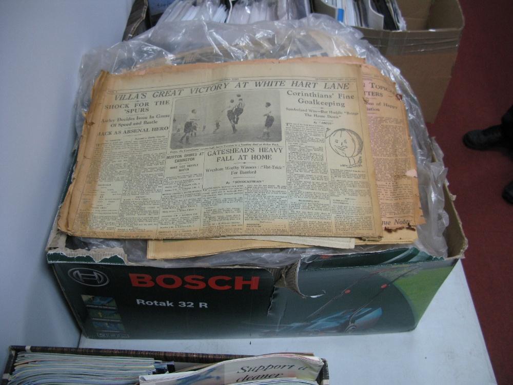 Lot 25 - Newspapers Evening Chronicle, Sports Gazette, Sunderland Echo, etc:- 1950's - 60's, etc:- One Box