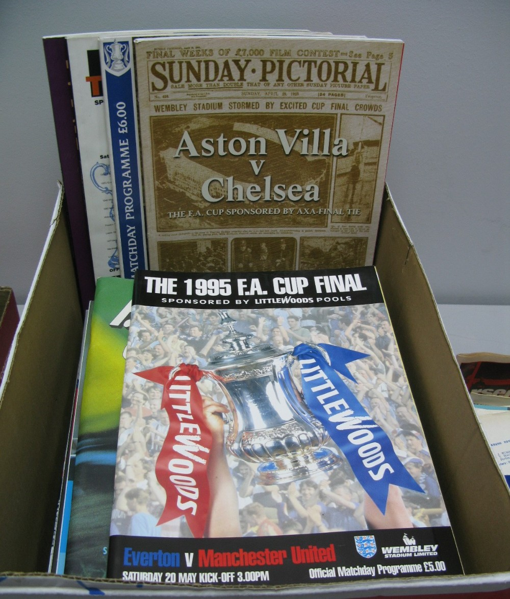 Lot 38 - F.A Cup Final Programmes 1985 - 1992, including 90 replay, 95, 97 to 2010 (24)