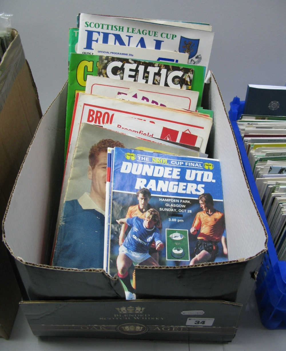 Lot 34 - Scottish Programmes 1970's and Later, including League Cup Finals, Celtic View :- One Box