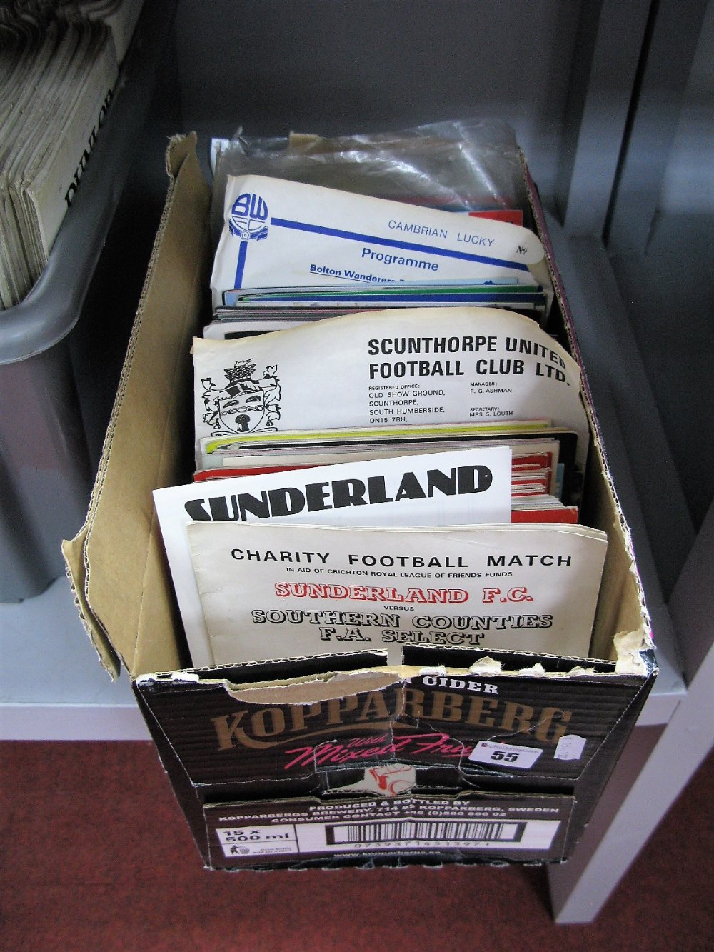 Lot 55 - Sunderland Home and Away Programmes 1980-85, many friendly's, single sheet, Isle of Man Festivals,
