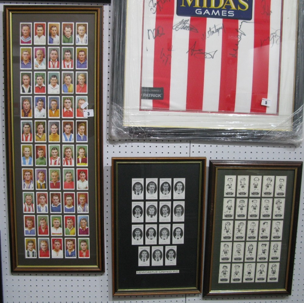 "Lot 3 - ""Association Footballers"" By Wills, set of fifty, Sloan and Graham, ""Newcastle All Time Greats"""