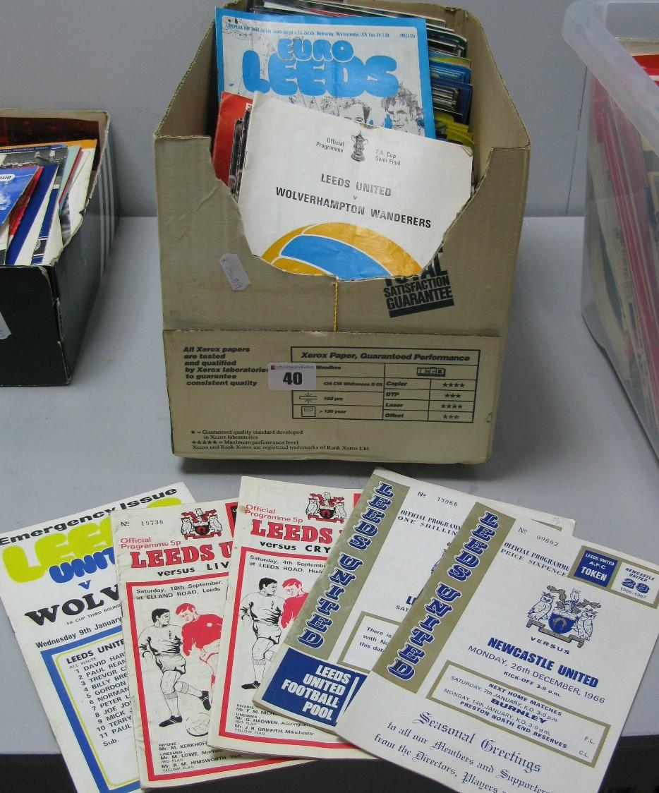 Lot 40 - Leeds United` Programmes, 1966 -92:- One Box