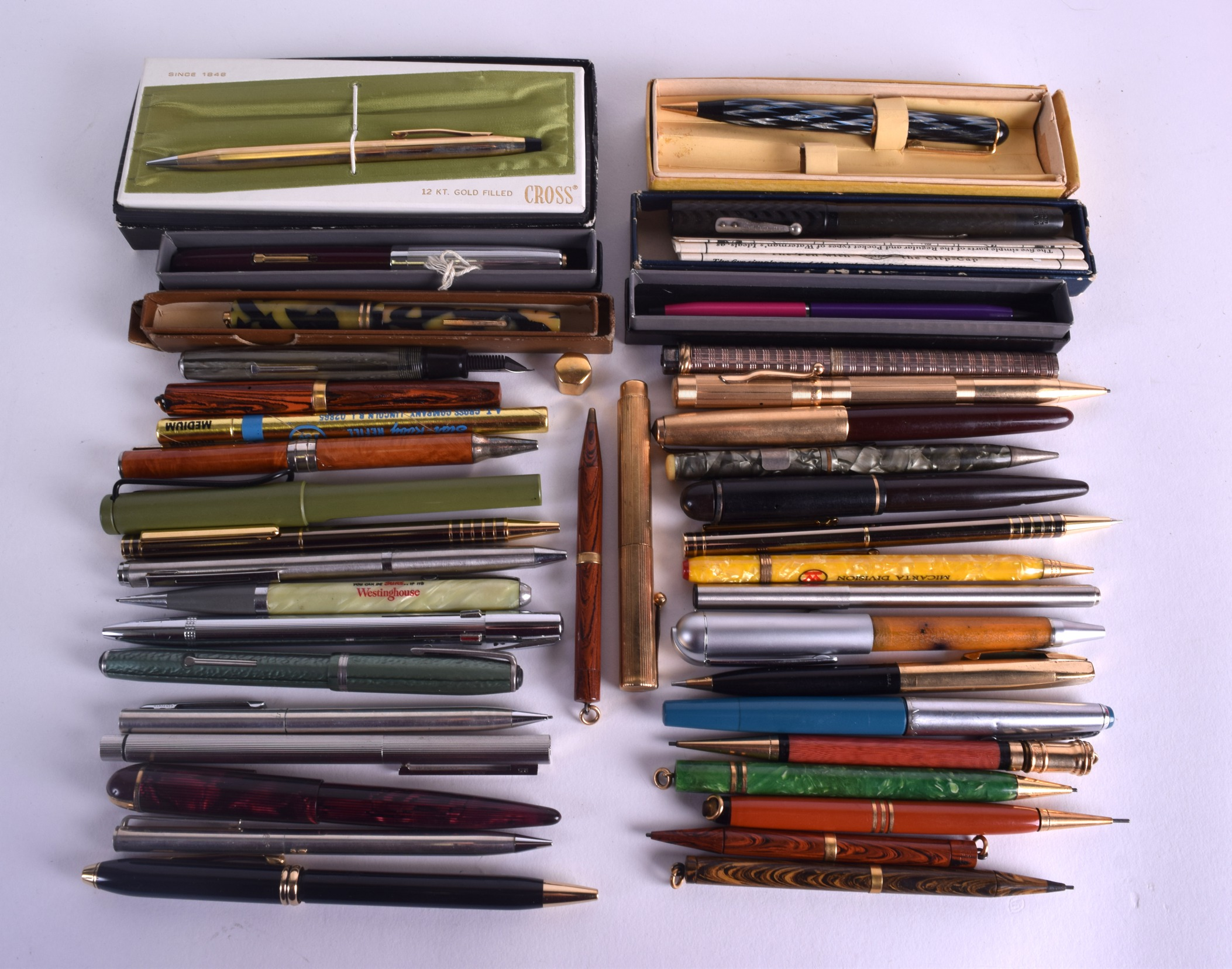 Lot 873 - A COLLECTION OF VINTAGE PENS including Cartier, Cross, Imperial etc. (39)