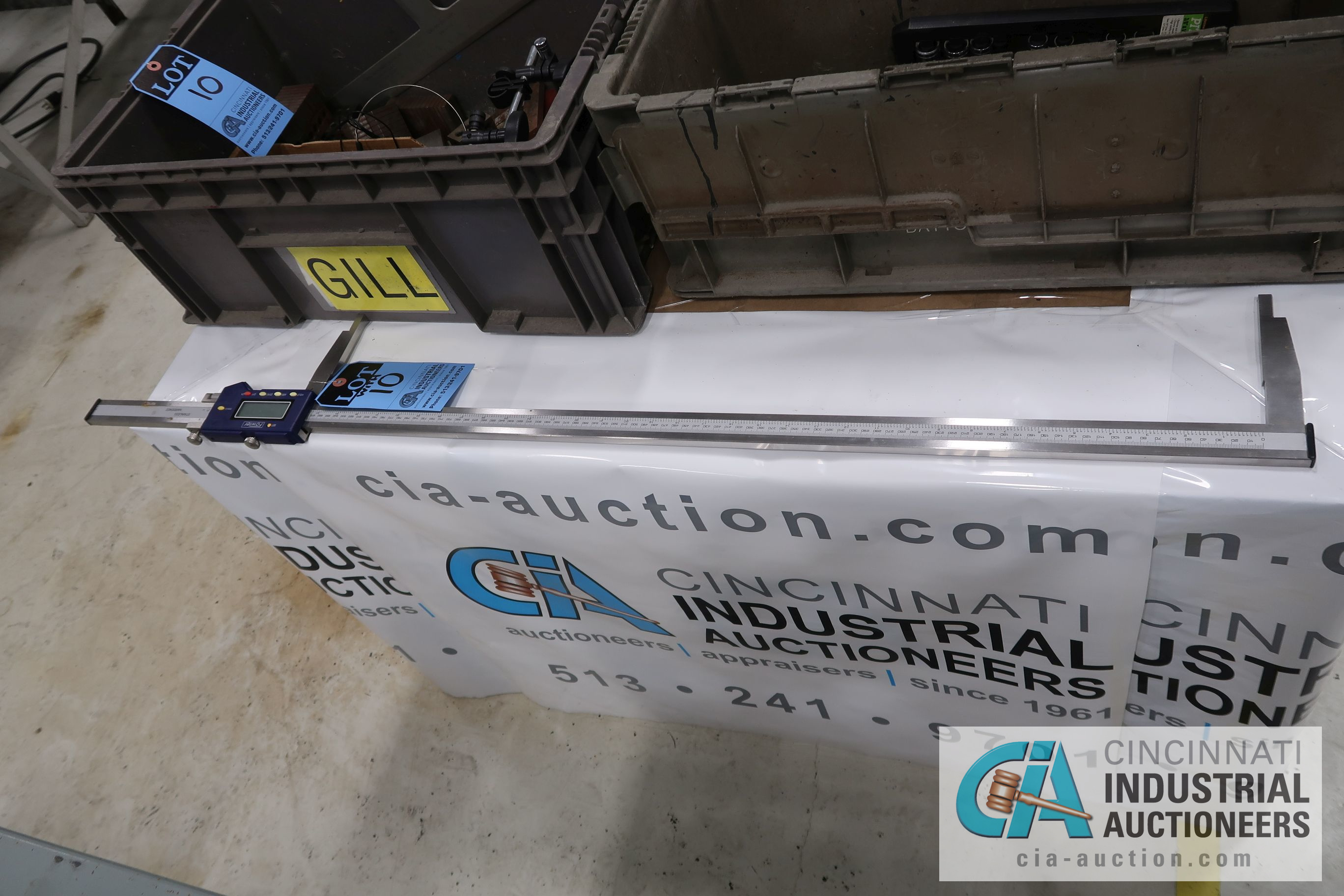 """(LOT) MISCELLANEOUS INSPECTION EQUIPMENT WITH 40"""" FOWLER DIGITAL CALIPER - Image 2 of 3"""