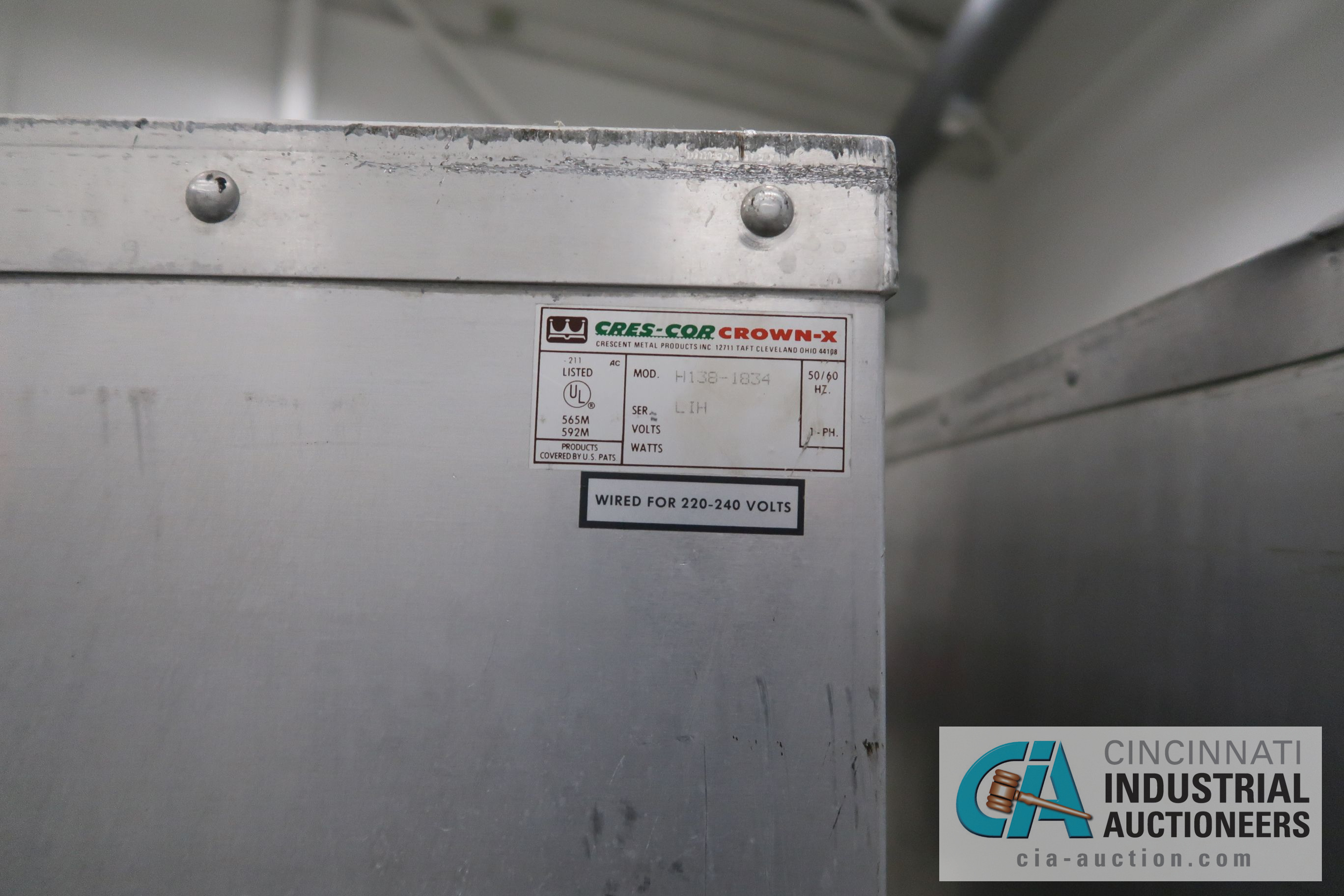 CRES-COR CROWN-X MODEL H-138-1834 TWO-DOOR ELECTRIC HOT CABINETS - Image 4 of 4