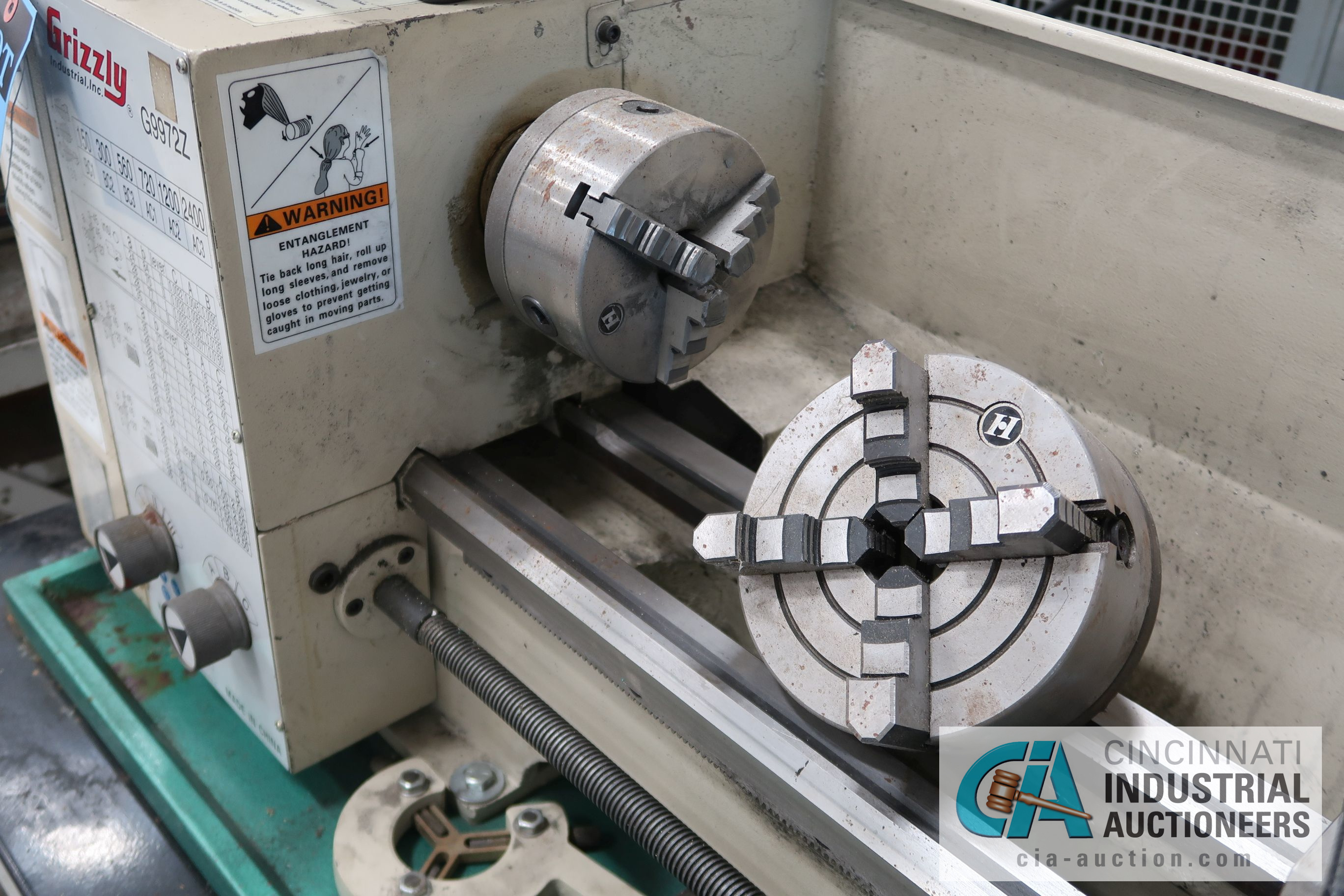 "11"" X 26"" GRIZZLY MODEL G9972Z MILO SIZE BENCH TOP LATHE; S/N 2011482 (2011), 110 VOLT, WITH WORK - Image 3 of 5"