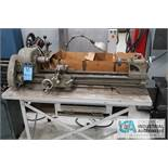 ATLAS MODEL TH48 BENCH TOP LATHE; S/N 058298, WITH WORK BENCH AND MACHINE ACCESSORIES, 110 VOLT