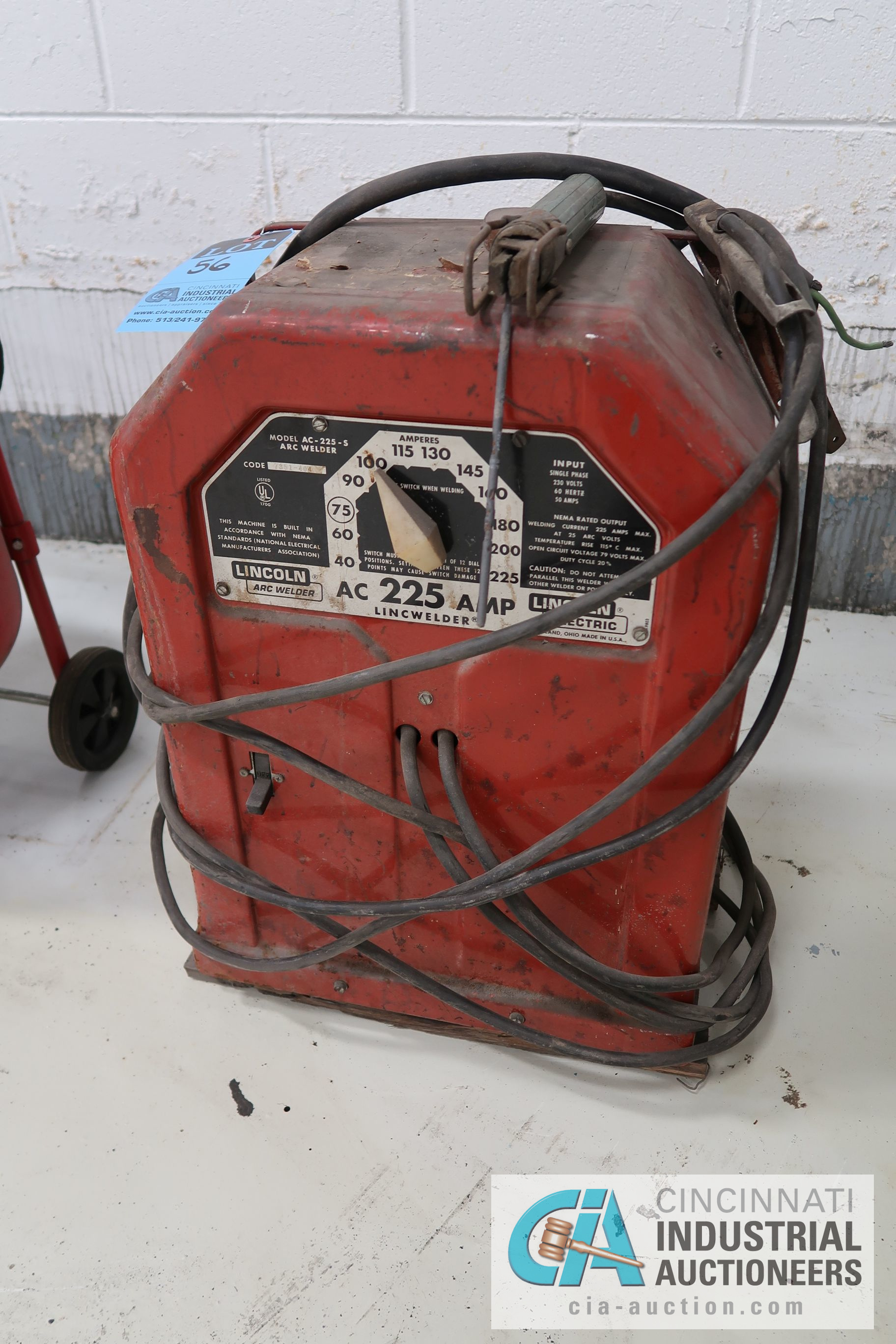 LINCOLN AC 225-S AMP LINCWELDER, 230 VOLT