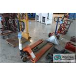 (LOT) WESCO MANUAL PALLET JACK AND OUT OF SERVICE JACK