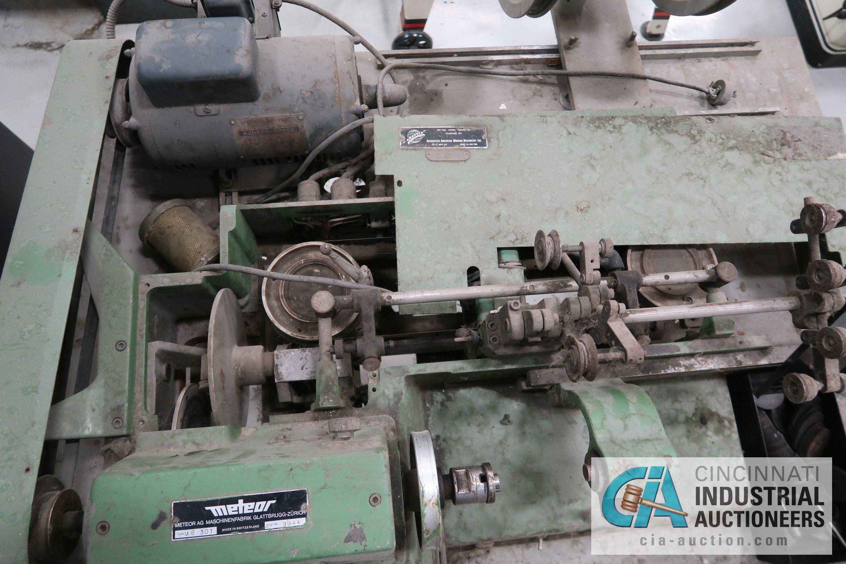 METEOR TYPE ME 301 BOBBIN WINDING MACHINE; S/N 9844 - Image 4 of 5