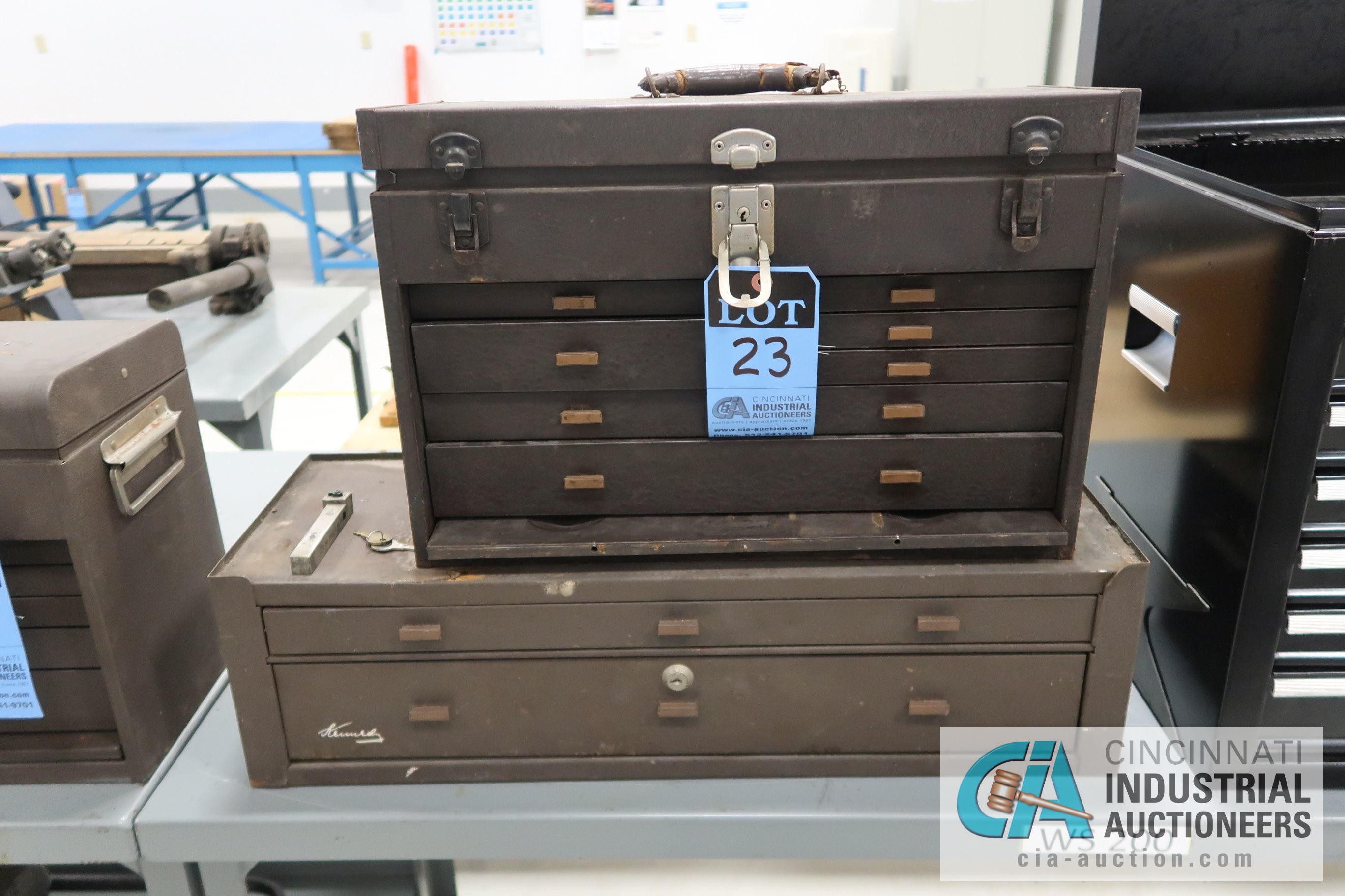 KENNEDY MACHINIST TOOL CHESTS WITH MISCELLANEOUS