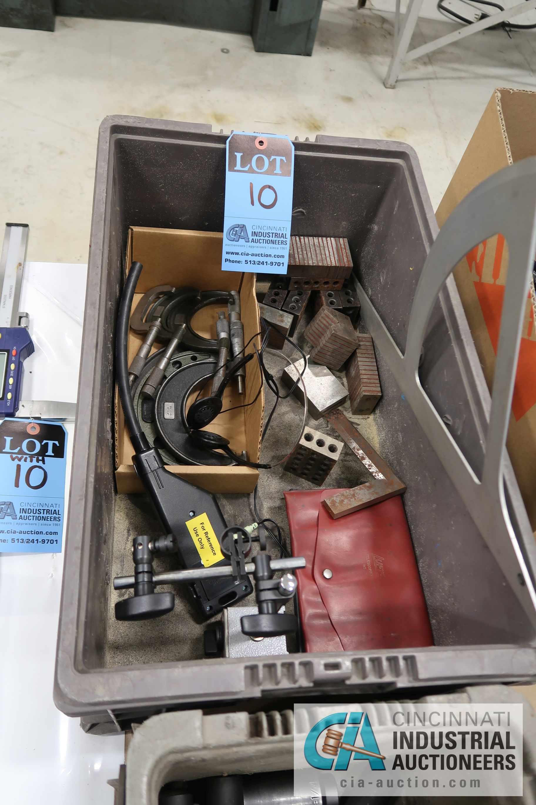 """(LOT) MISCELLANEOUS INSPECTION EQUIPMENT WITH 40"""" FOWLER DIGITAL CALIPER"""