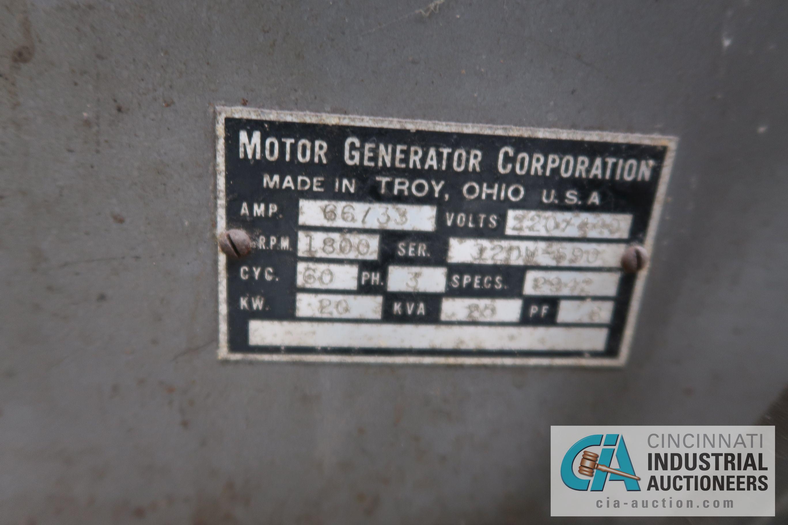 HOBART 25 KVA GENERATOR, 220 VOLT - Image 3 of 4