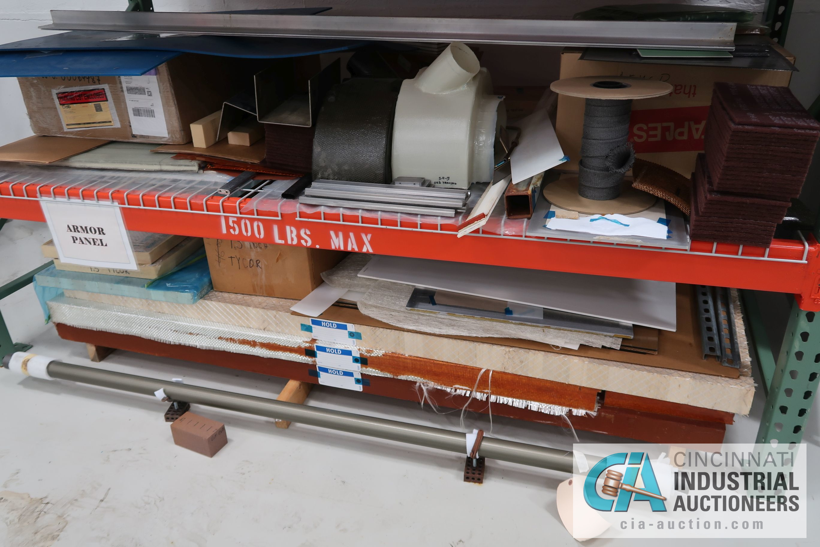 TWO-DOOR TENNSCO CABINET WITH MISCELLANEOUS CONTENTS AND CONTENTS ON RACK - COMPOSITE MATERIAL AND - Image 5 of 5