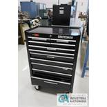 11-DRAWER CRAFTSMAN QUIET GLIDE PORTABLE TOOL CHEST WITH MISCELLANEOUS