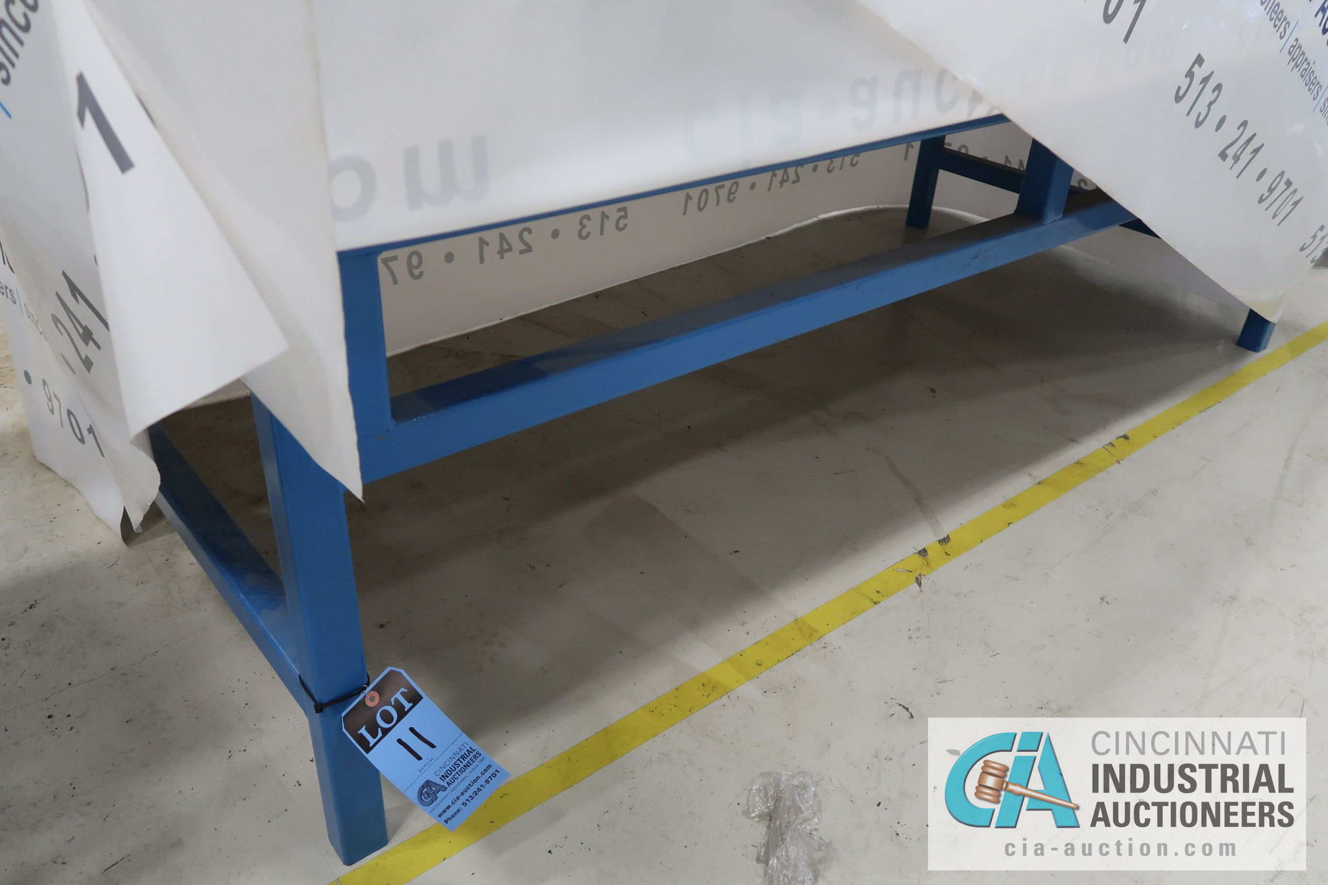 """48"""" X 96"""" LONG X 28"""" HIGH STEEL BENCH FRAME **DELAYED REMOVAL - PICKUP 11-15**"""