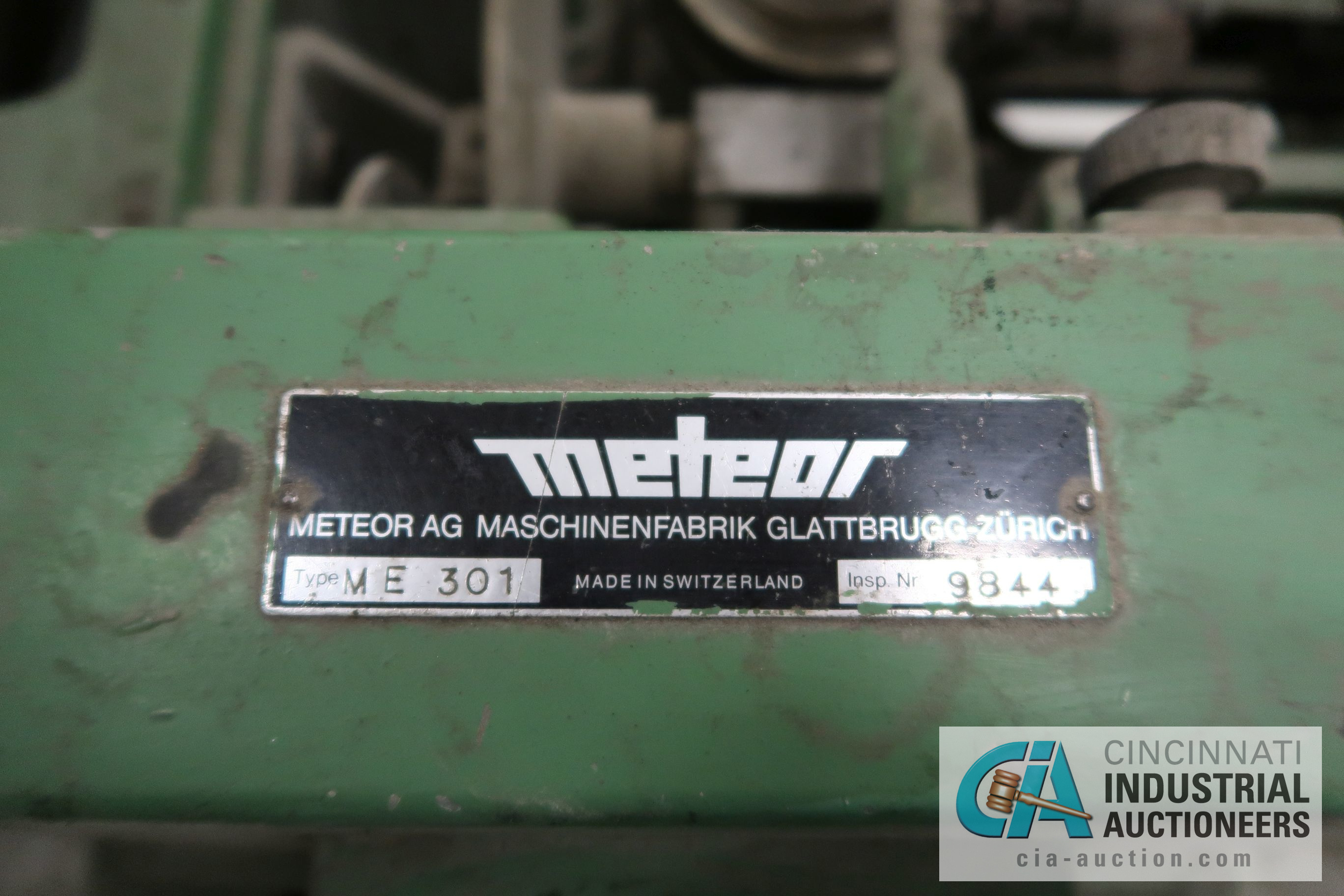 METEOR TYPE ME 301 BOBBIN WINDING MACHINE; S/N 9844 - Image 3 of 5