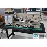 "11"" X 26"" GRIZZLY MODEL G9972Z MILO SIZE BENCH TOP LATHE; S/N 2011482 (2011), 110 VOLT, WITH WORK"