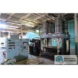 **1,000 TON ORANGE ENGINEERING MODEL 1000-4EA VAC-O-LAM LAMINATION VACUUM PLATEN PRESS; S/N 213V089,