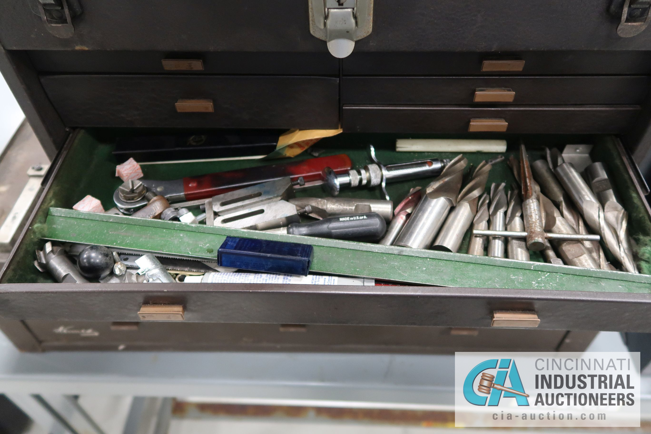 KENNEDY MACHINIST TOOL CHESTS WITH MISCELLANEOUS - Image 5 of 7