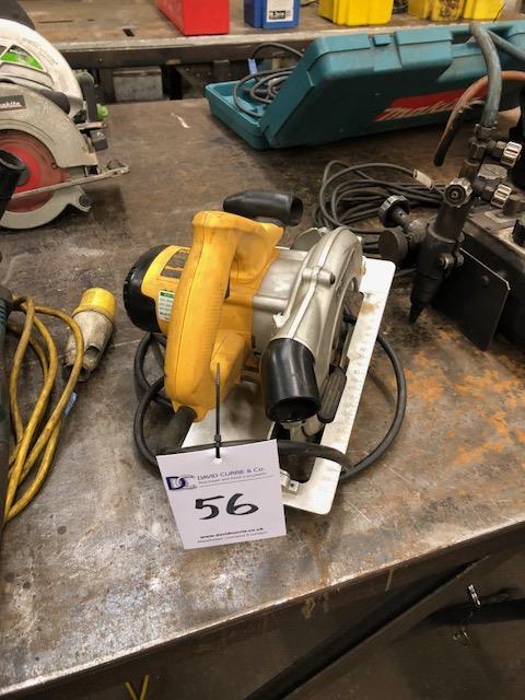 Lot 56 - DEWALT D23550-LX 110v, circular saw