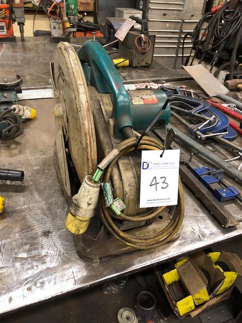 Lot 43 - MAKITA 2414B 355mm 110v, abrasive wheel cut-off saw
