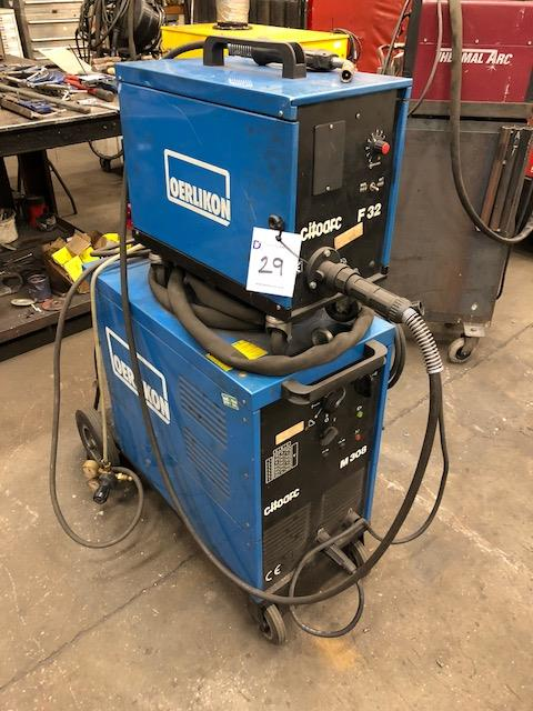 Lot 29 - CITOARC M308, 415v portable MIG welder s/no: H-01-169577, complete with CITOARC F32 wire feed