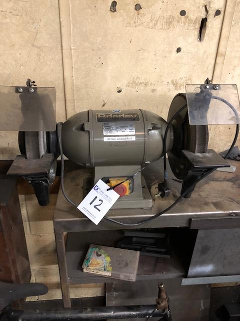 Lot 12 - BRIERLEY Model 66-10 double ended bench grinder s/no: 132813 (2007)