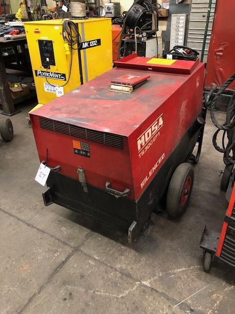 Lot 27 - MOSA TS 300 EP1 Silenced, portable diesel engine welding generator s/no: 21990080031 (2008)