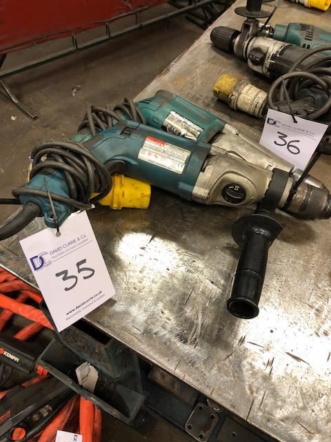 Lot 35 - MAKITA HP2051F 13mm 110v, percussion drill and MAKITA HP2071F 16mm 110v, percussion drill