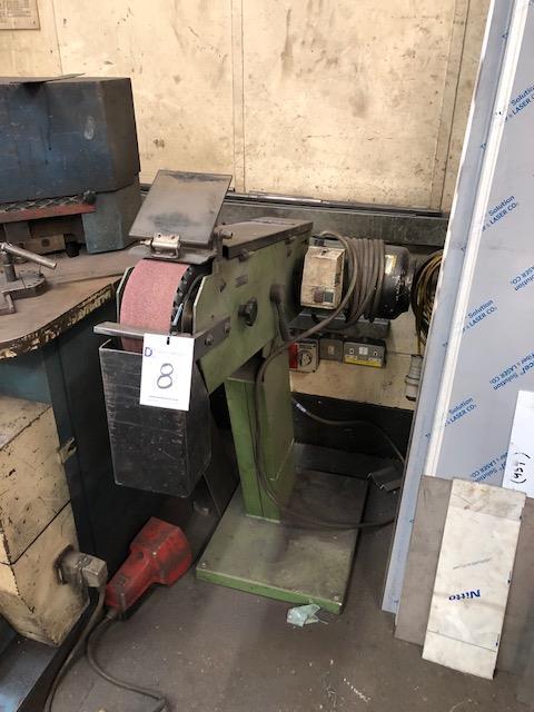 "Lot 8 - H M Type TAS-100, 415v 4"" belt linisher s/no: 2002/110830 (2002)"