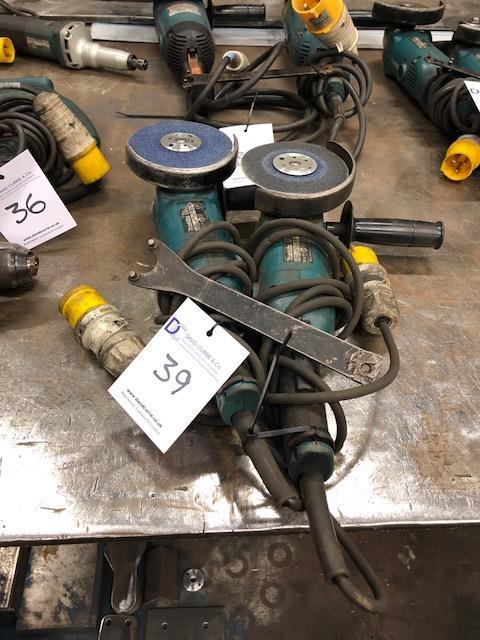 Lot 39 - 2 x MAKITA GA5021 125mm 110v, angle grinders