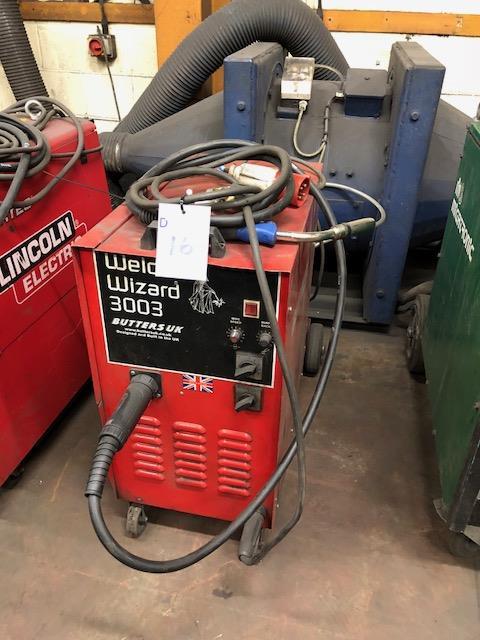 Lot 16 - BUTTERS WELD WIZARD 3003 415v portable MIG welder