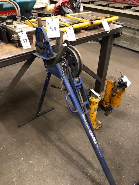 Lot 54 - RECORD UNIBEND pipe bender and vice on stand