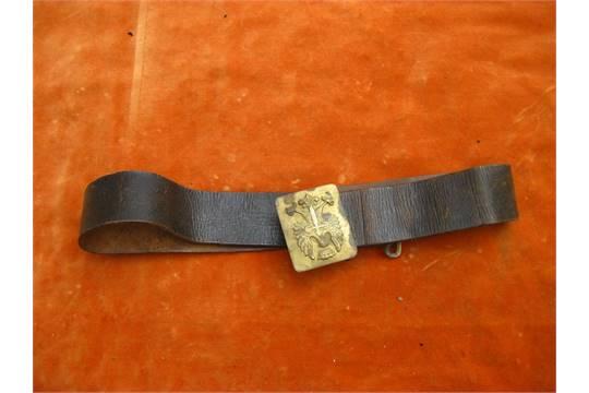 SPANISH CIVIL WAR 1936 BELT  An original brown leather