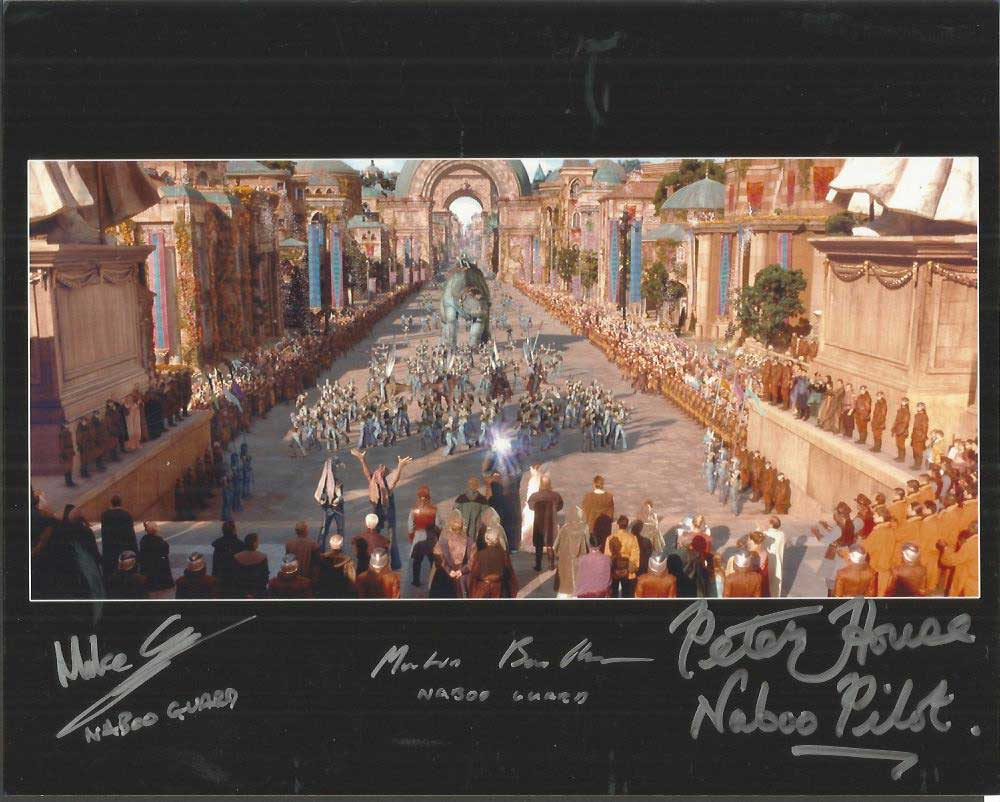 Peter House, Mike Savva and Martin Bou Mansour signed 10x8 colour ...