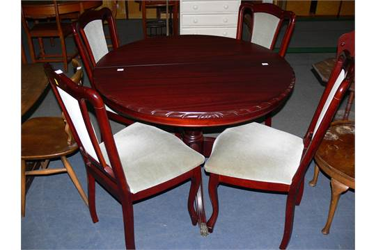 Magnificent A John Coyle Extending Dining Table With Four Dining Chairs Bralicious Painted Fabric Chair Ideas Braliciousco