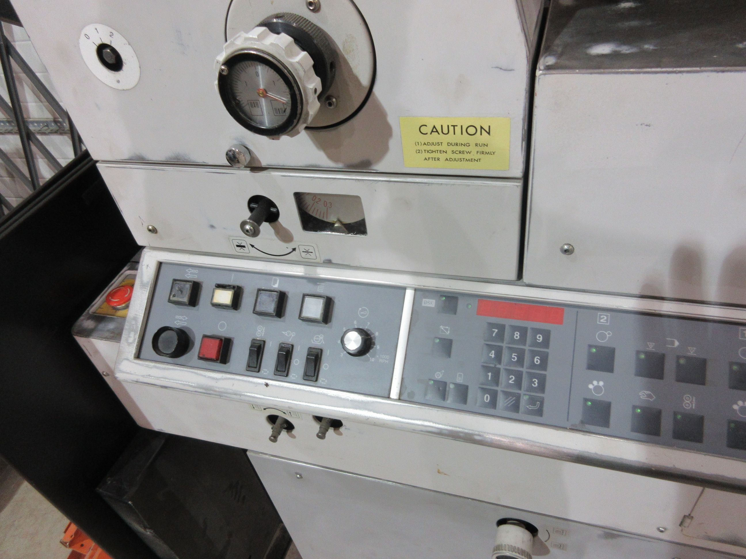 HAMADA TRUE (2) color offset press (mod: H234A) (FOR PARTS ONLY) - Image 4 of 6