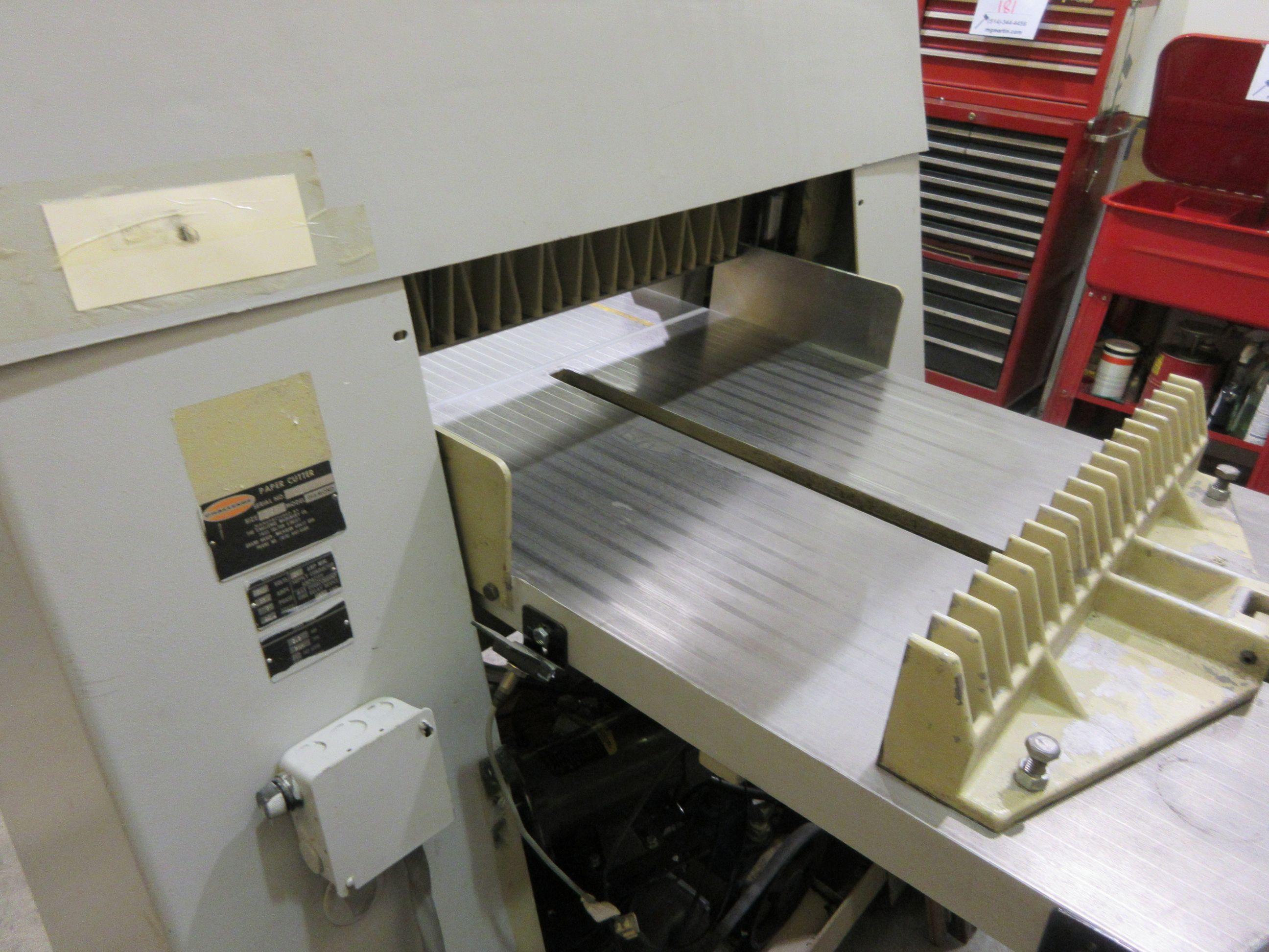 "CHALLENGE paper cutter (mod: Diamond) 26 1/2"" - Image 8 of 8"