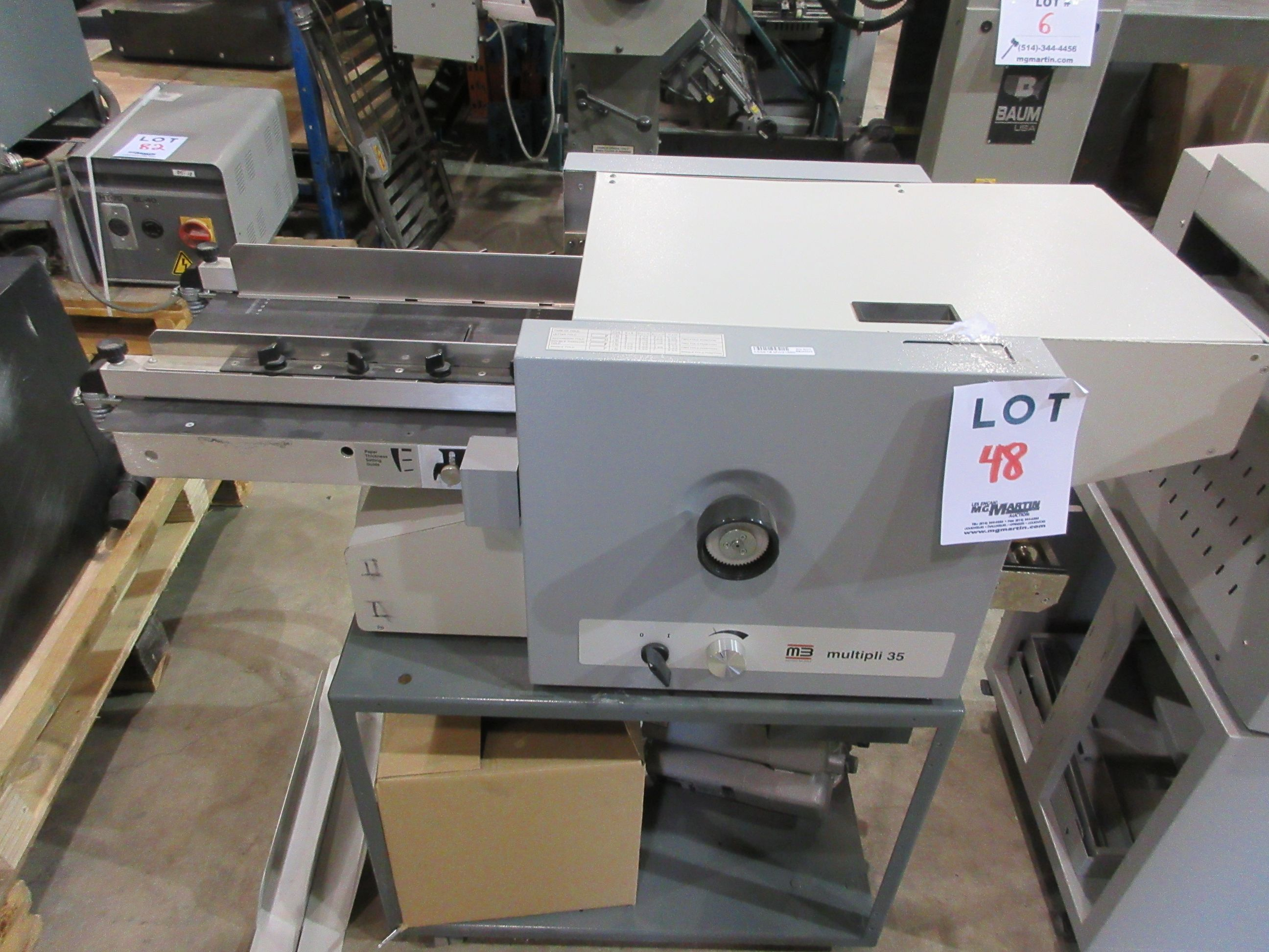 MB folding machine (mod: multipli 35)