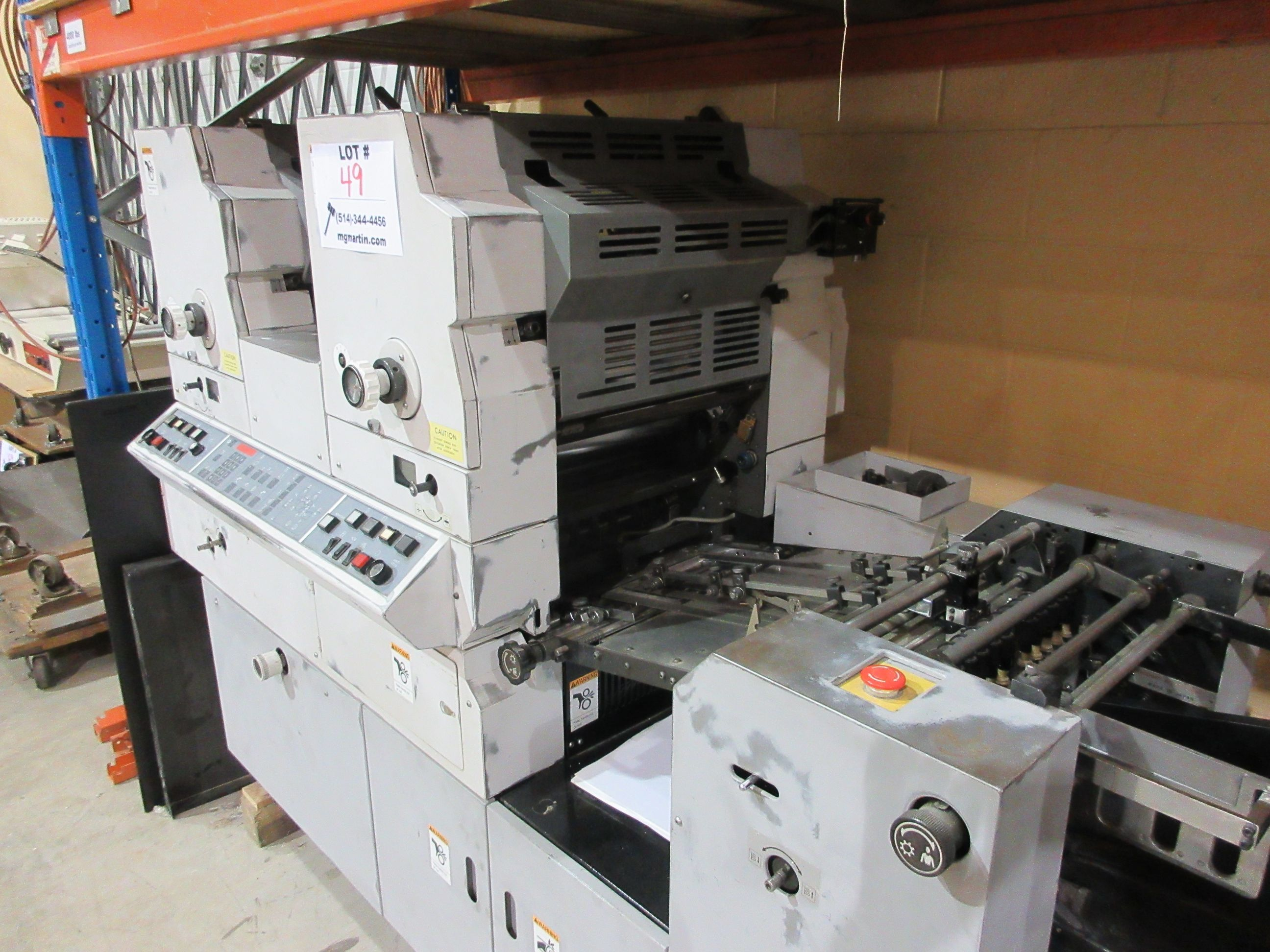 HAMADA TRUE (2) color offset press (mod: H234A) (FOR PARTS ONLY) - Image 6 of 6