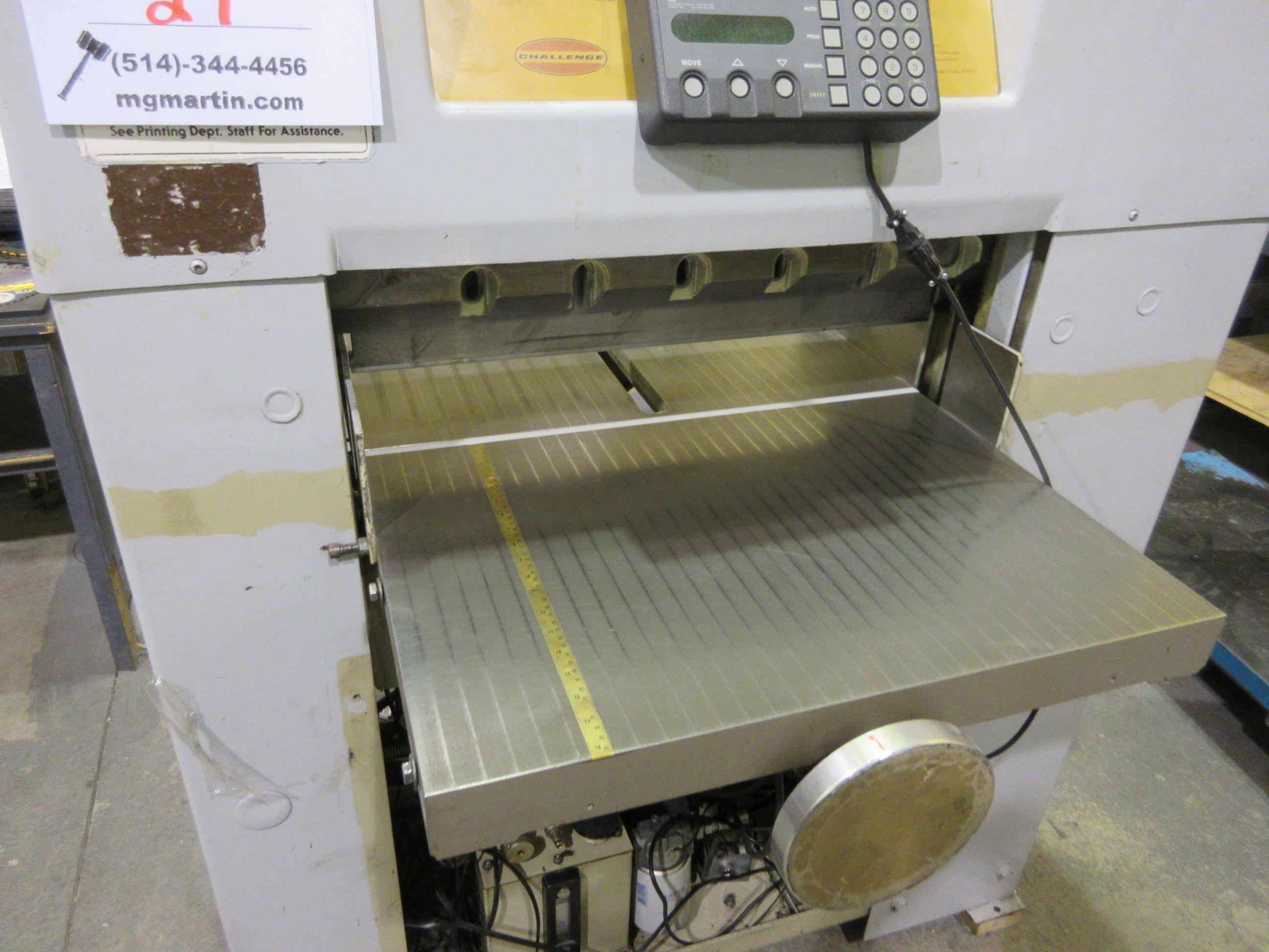 "CHALLENGE paper cutter (mod: Diamond) 26 1/2"" - Image 3 of 8"