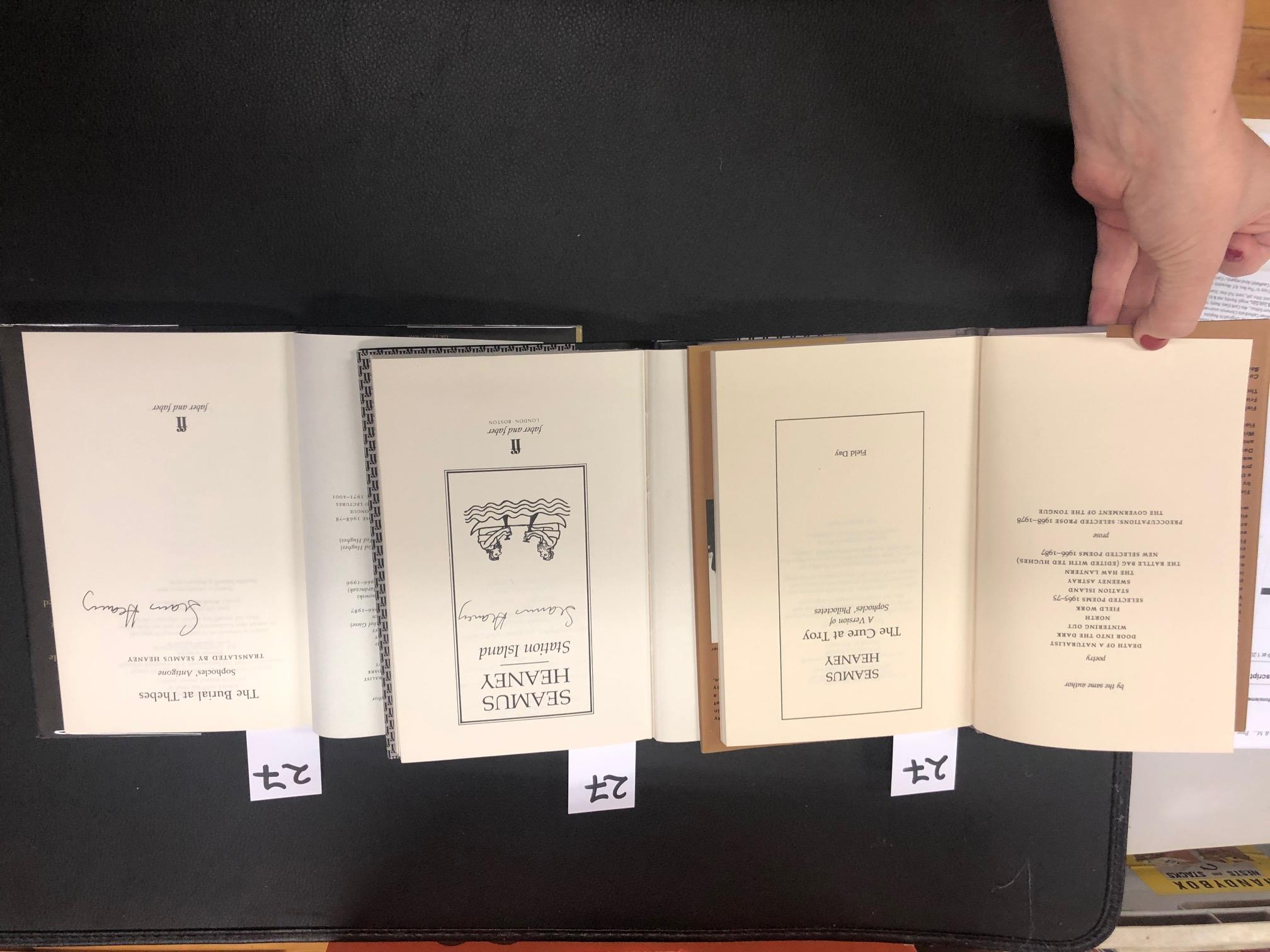 Lot 27 - All Signed Copies Heaney (Seamus) Station Island, L. 1984. First Edn.