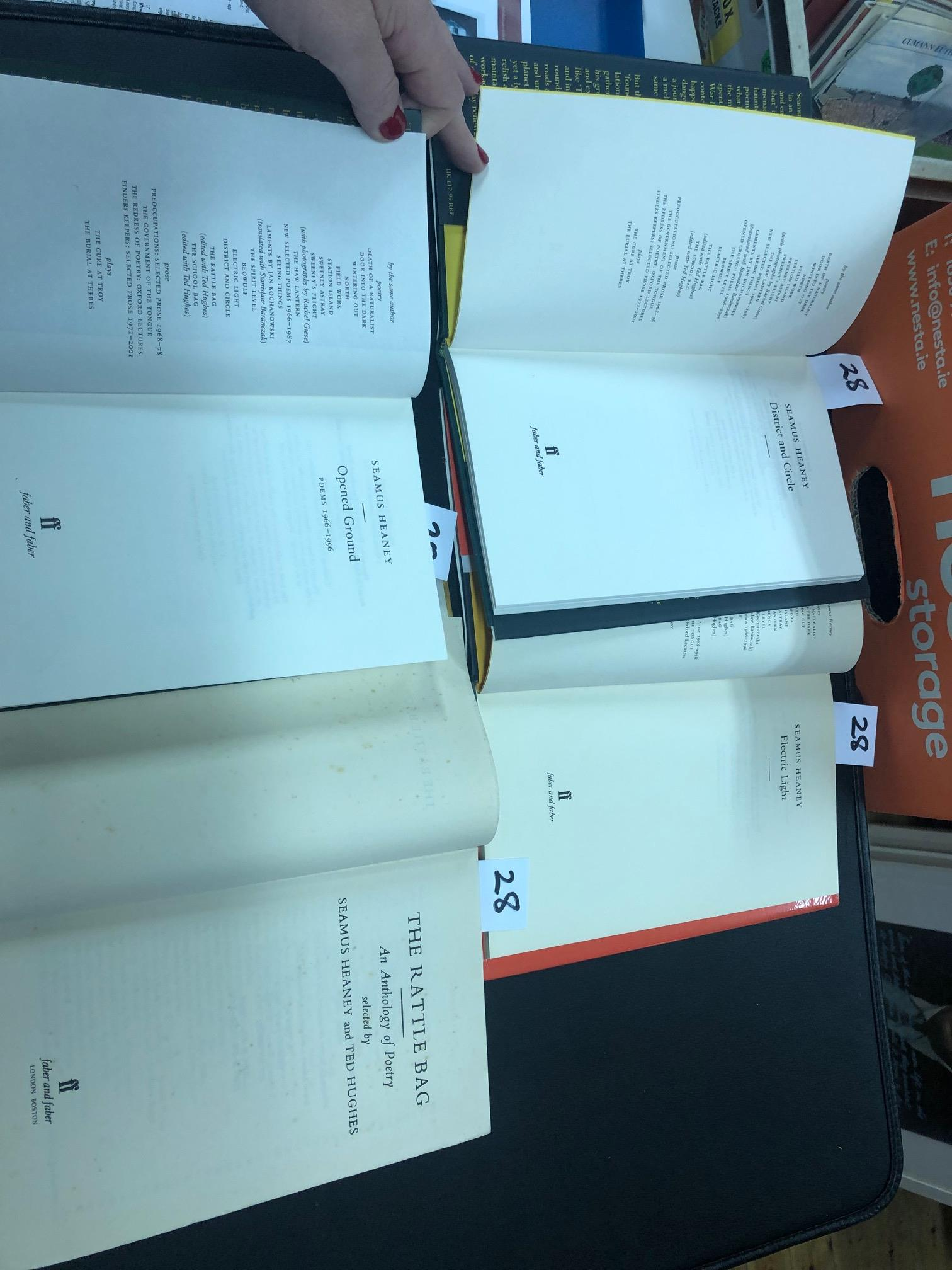 Lot 28 - Heaney (Seamus) Opened Ground, Poems 1966 - 1996, L. 1998, First Edn., boards; Electric Light, L.